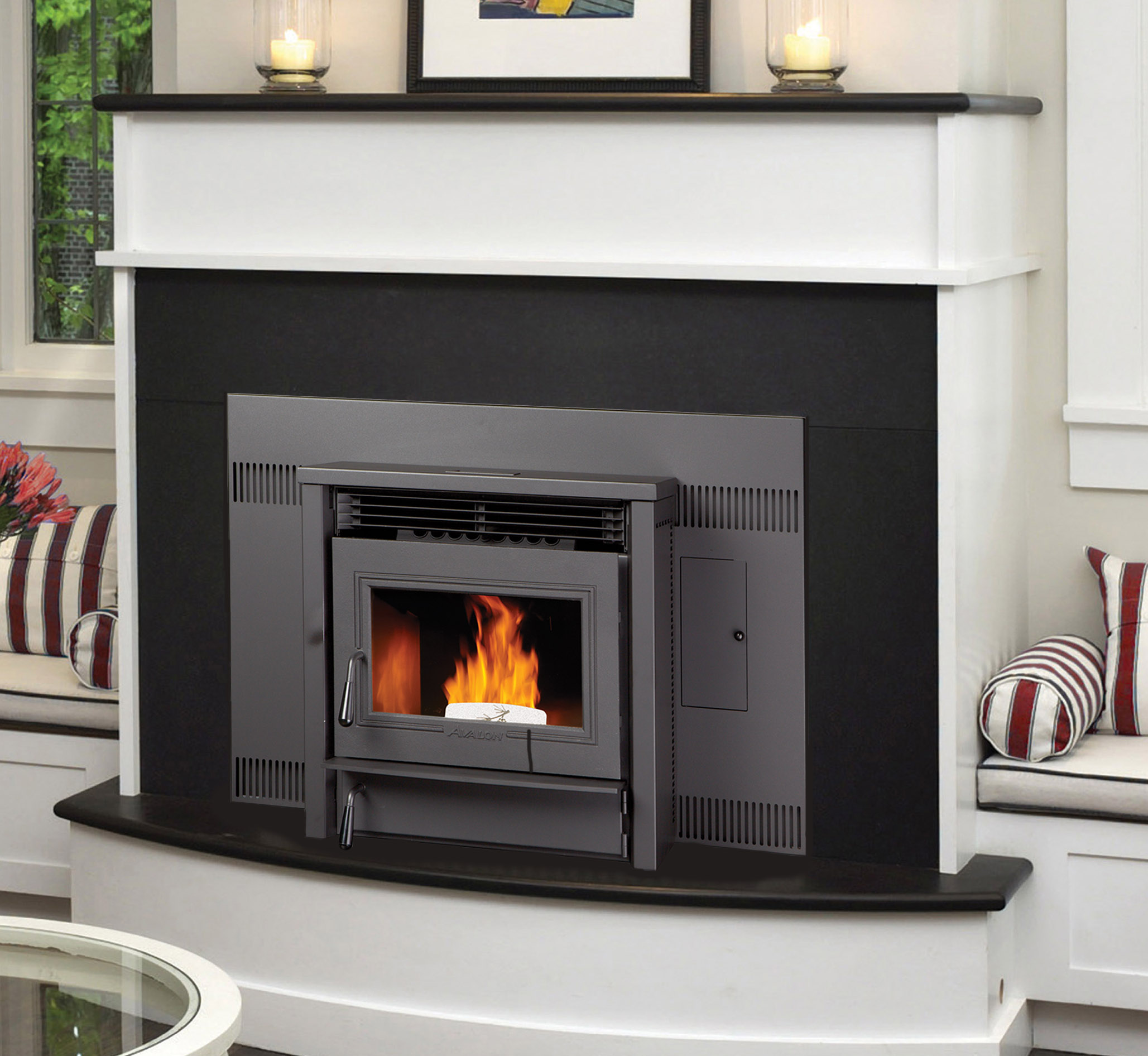 avalon agp all grade pellet insert quality fireplace bbq. Black Bedroom Furniture Sets. Home Design Ideas
