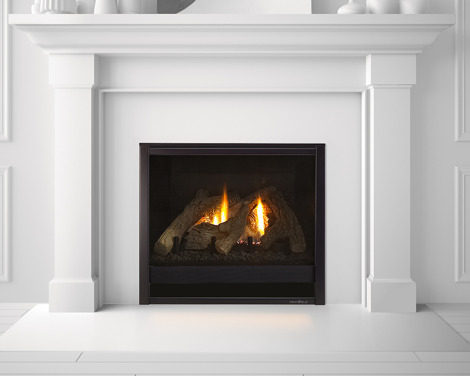 how to clean glass on heat n glo fireplace